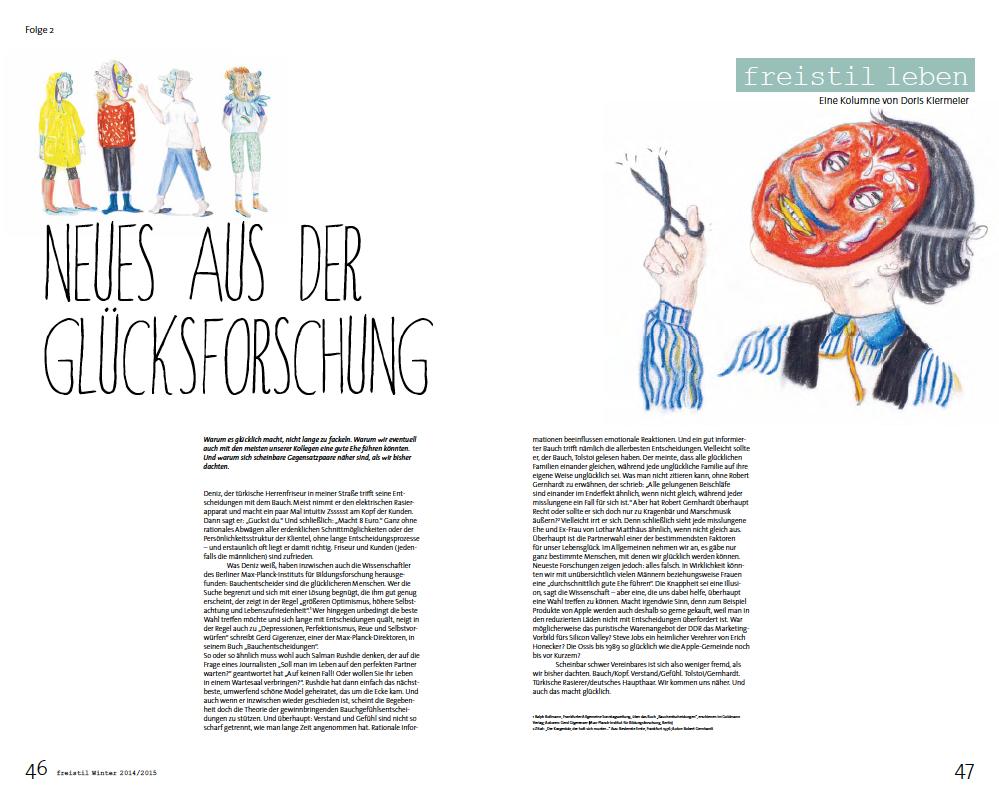 freistil Rolf Benz Kolumne Glücksforschung von Doris Schmitt Glaeser